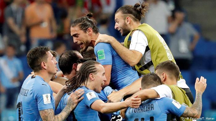 FIFA Fußball-WM 2018 | Achtelfinale | Uruguay vs. Portugal | JUBEL Uruguay