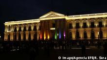 El Salvador | National Palace in Regenbogenfarben