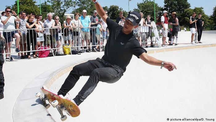 Germany's largest skate park in Dusseldorf