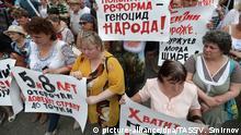 Russland - Proteste gegen die Erhöhung des Rentenalters