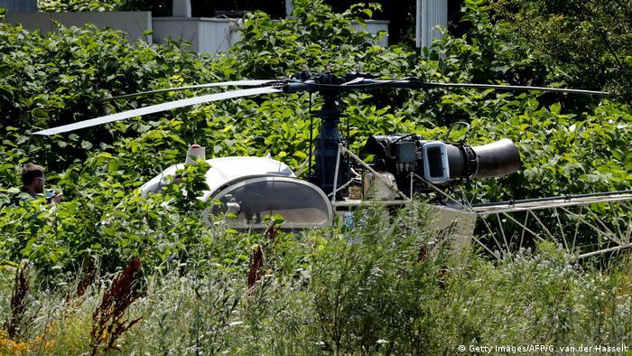 Helicóptero usado na fuga foi posteriormente abandonado pelos fugitivos