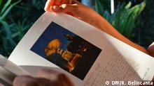 Buch sammelt persönliche Postkarten von Amílcar Cabral, Guinea-bissauischer Politiker und Unabhängigkeitskämpfer.
