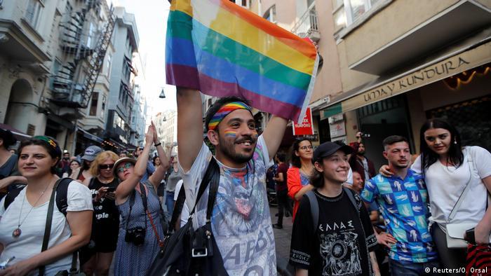 Gay pride parade in central Istanbul, Turkey