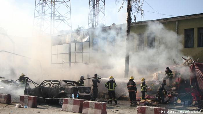 Aftermath of the suicide attack in Afghanistan