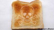 Toastscheibe mit Totenkopf