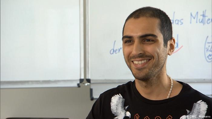 Iranian German language student Emmanuel (DW/C. Martens)