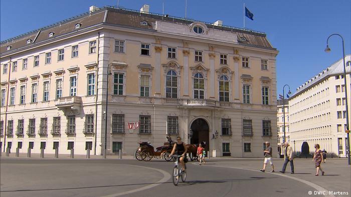 DW-Reportage aus Wien | Flüchtlinge & Integration | Regierungssitz (DW/C. Martens)
