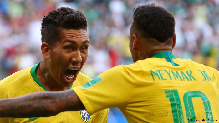 Fußball WM 2018 Brasilien vs Mexiko Torjubel