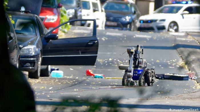 Belgien Brüssel Bombenentschärfung