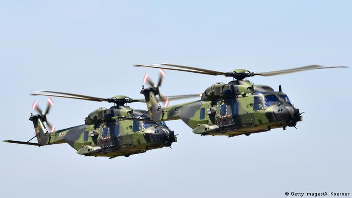 NH90s flied in the air