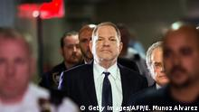 TOPSHOT - Hollywood film producer Harvey Weinstein enters Manhattan criminal court June 5, 2018 in New York. - Weinstein pleaded not guilty to rape and sexual assault charges in New York. Weinstein was charged with rape and another sex crime in New York in late May, nearly eight months after his career imploded in a blaze of accusations of sexual misconduct. (Photo by EDUARDO MUNOZ ALVAREZ / AFP) (Photo credit should read EDUARDO MUNOZ ALVAREZ/AFP/Getty Images)