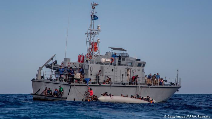 Libysche Küstenwache Rettungsaktion Flüchtlinge
