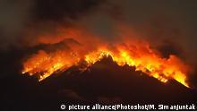 Ausbruch Mount Agung auf Bali