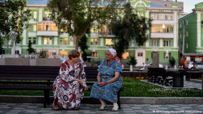 Ältere Menschen in Russland