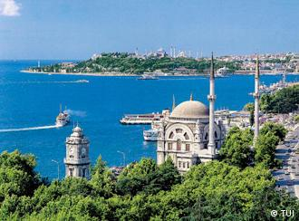 View of the Bosporus in Istanbul