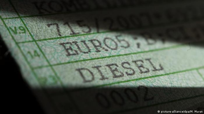 Fahrzeugschein Diesel Auto Wirtschaft
