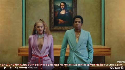 Musikvideo Apeshit von Beyoncé und JayZ (SME, UMG (im Auftrag von Parkwood Entertainment/Roc Nation); Reservoir Media / youtube.com - Beyoncé)