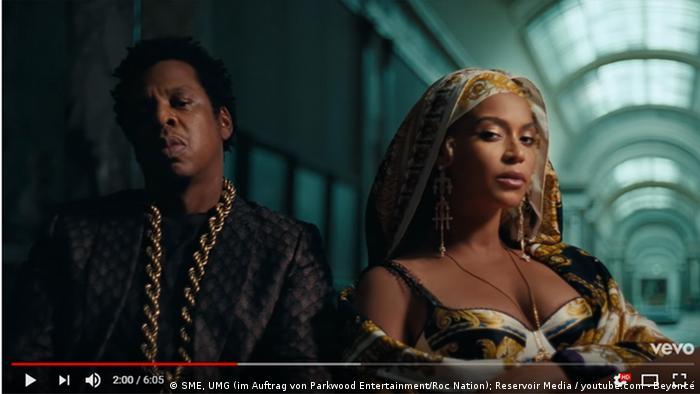 Musikvideo Apeshit von Beyoncé und JayZ (SME, UMG (im Auftrag von Parkwood Entertainment/Roc Nation); Reservoir Media / youtube.com - Beyoncé)