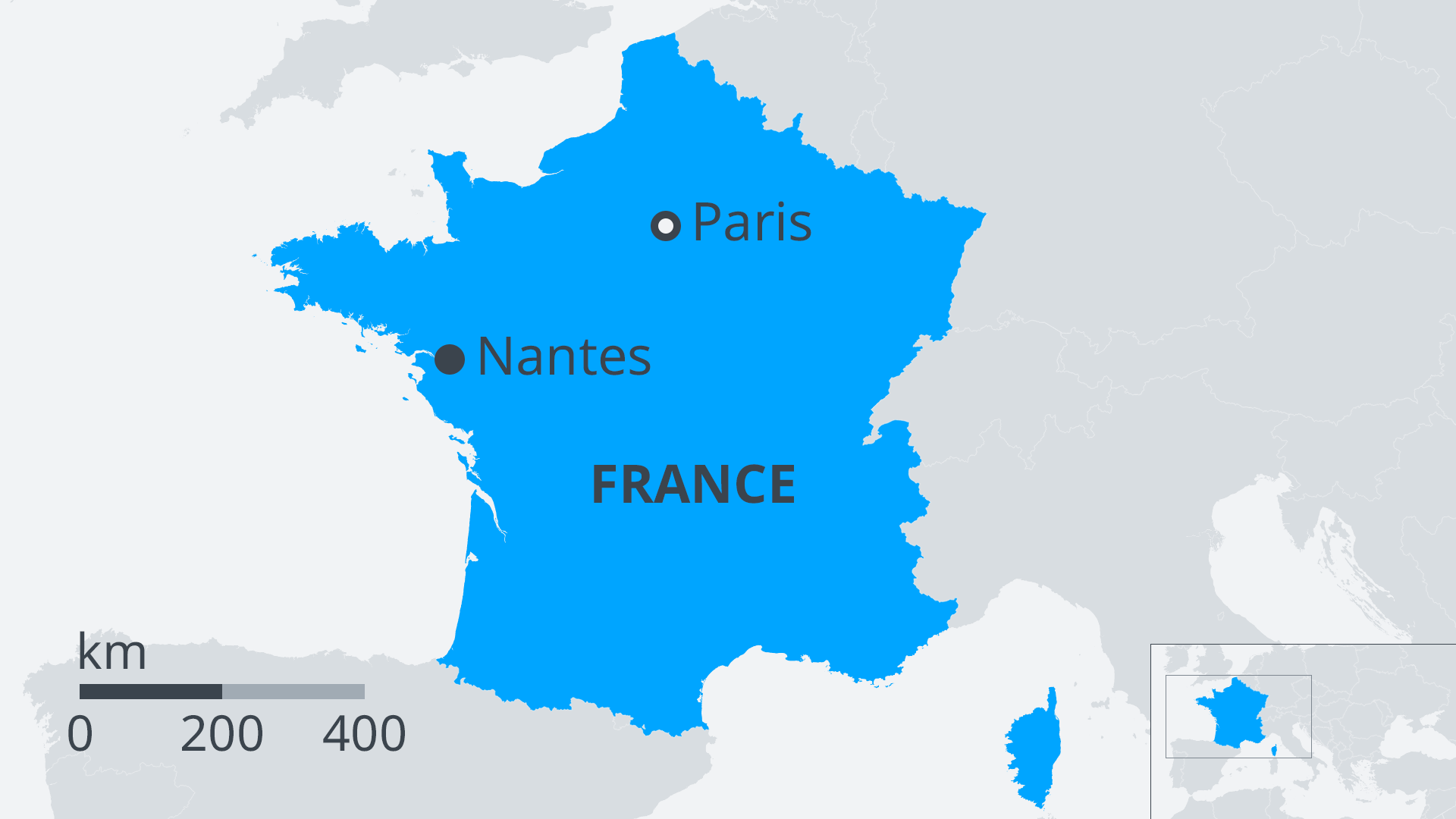 Map Of France Nantes.France Violent Clashes In Nantes After Police Shoot Young Man