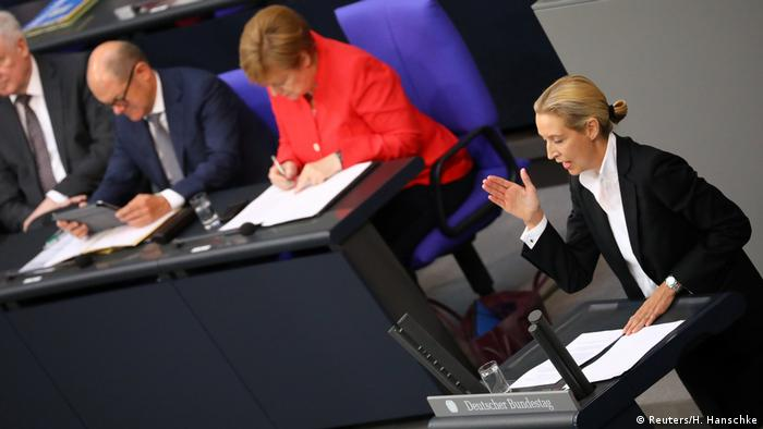 Alice Weidel - Bundestag in Berlin (Reuters/H. Hanschke)