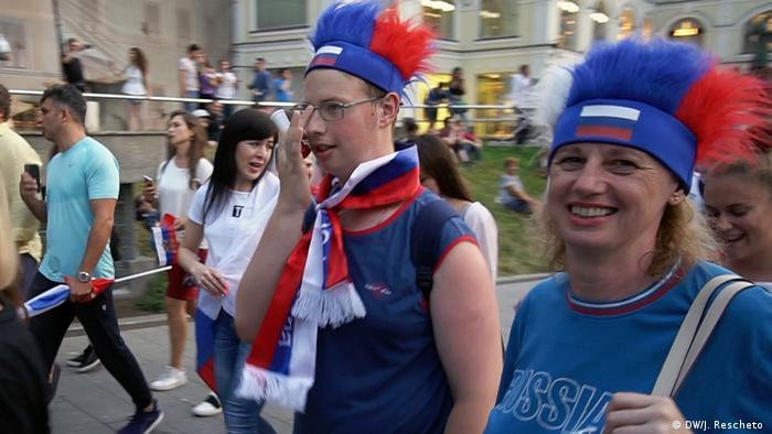 Russian fans at the World Cup