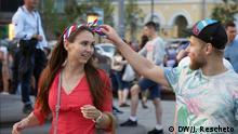 Bildergalerie Verkleidende Fans in Moskau