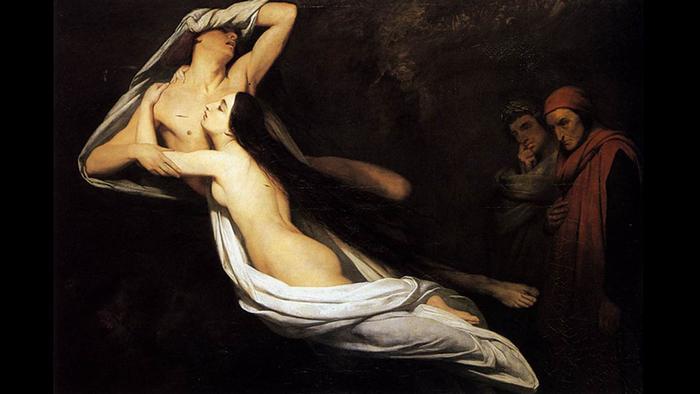 Francesca da Rimini and Paolo Malatesta Appraised by Dante and Virgil
