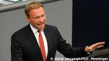 Deutschland Bundestag Generaldebatte Christian Lindner (Getty Images/AFP/O. Messinger)