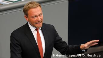 Deutschland Bundestag Generaldebatte Christian Lindner