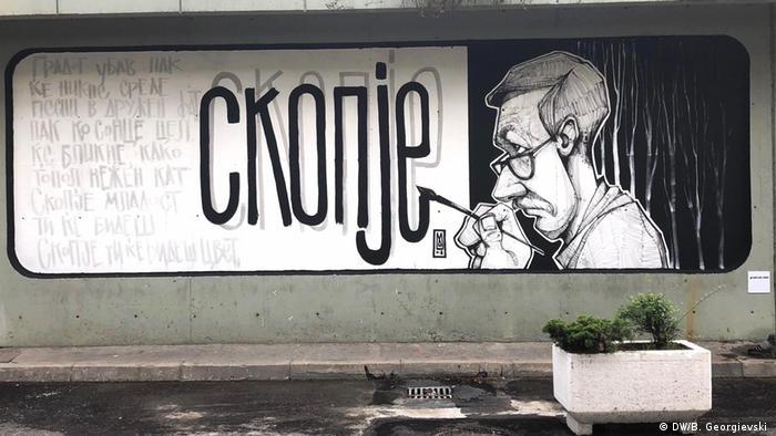 Mazedonien Graffiti-Kunst in Skopje (DW/B. Georgievski )