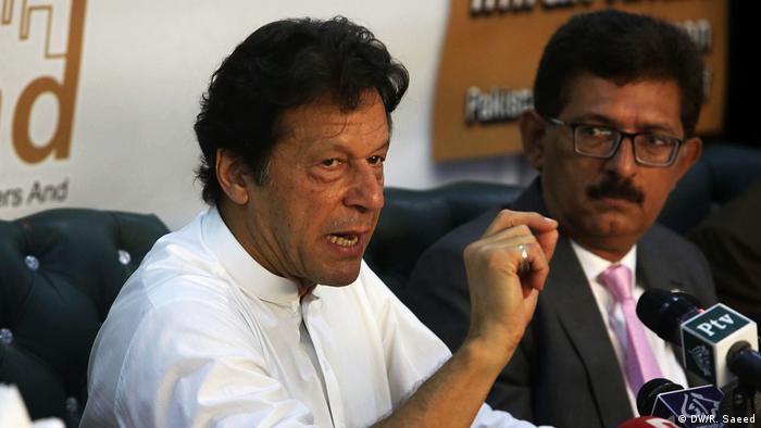 Pakistan Wahlkampagne in Karaschi (DW/R. Saeed)