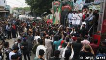 Pakistan Wahlkampagne in Karaschi