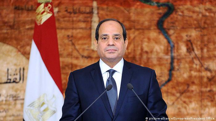 Abdel-Fattah el-Sissi's delivering a speech in Cairo