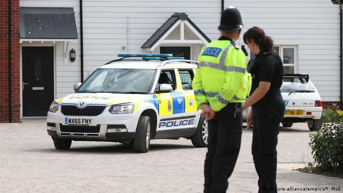 Полиция Уилтшира в районе, где обнаружили пострадавших