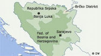 A map of Bosnia