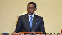 February 27, 2018 - Carthage, Tunisia - President of the Republic Beji Caid Essebsi received at the Carthage Palace the President of Equatorial Guinea Teodoro Obiang Nguema Mbasogo, who is making an official visit to Tunisia for three days..The President of Equatorial Guinea Teodoro Obiang Nguema Mbasogo announced, the opening of an embassy of his country in Tunisia as part of the strengthening of relations between the two countries and the removal of the visa for Tunisians |