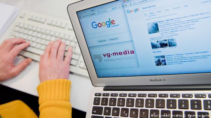 Google Urheberrecht (picture-alliance/dpa/J. Stratenschulte)