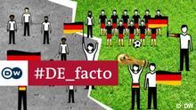 DE_Facto Fußball und Patriotismus Die Ausgabe von DE_Facto (Serbisch/Bosnisch/Kroatisch) über Fahnenwahn in Deutschland. Moderatorin: Sanja Blagojevic. Copyright: DW