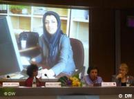 مراسم اهدای جایزه آلکساندرلانگر به نرگس محمدی در سال ۲۰۰۹Juli 2009