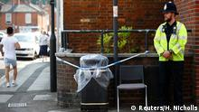 05.07.2018****A police officer guards a cordoned off rubbish bin on Rolleston Street, after it was confirmed that two people had been poisoned with the nerve-agent Novichok, in Salisbury, Britain, July 5, 2018. REUTERS/Henry Nicholls