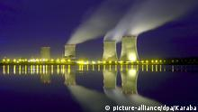 The Cattenom reactor in France, pictured at night. Archive image from 2007.