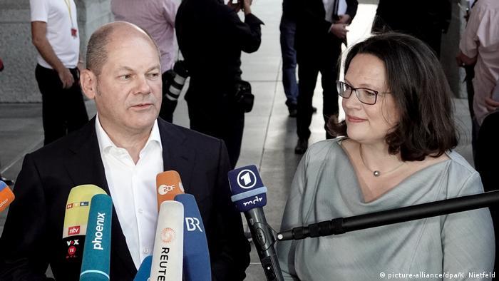 Olaf Scholz i Andrea Nahles