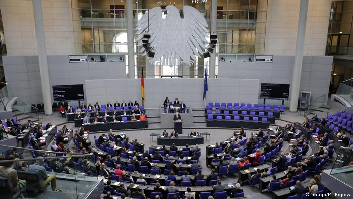 The German parliament in session