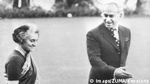 1972 - Präsident Pakistans Zulfikar Ali Bhutto mit Premierministerin Indira Gandhi