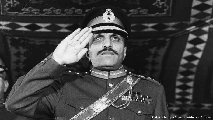 1977-1988 Präsident Pakkistans Muhammad Zia-ul-Haq (Getty Images/Keystone/Hulton Archive)