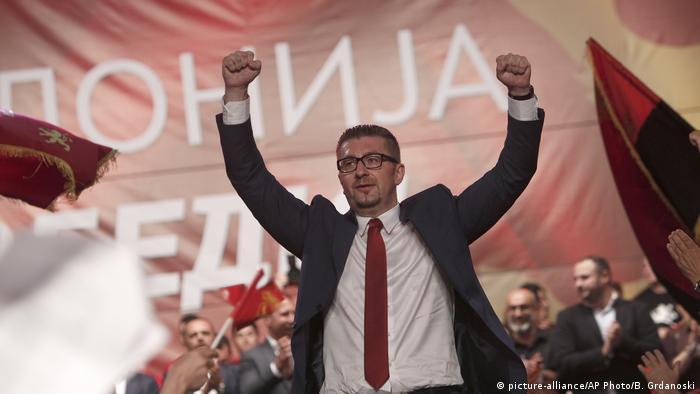 Mazedonien Hristijan Mickovski Parteichef der oppositionellen VMRO DPMNE
