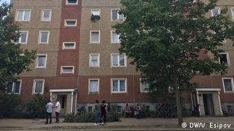 Дом в Котбусе, в котором проживают чеченские беженцы