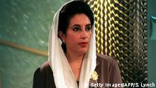 Premierministerin Pakistan Benazir Bhutto (Getty Images/AFP/S. Lynch)