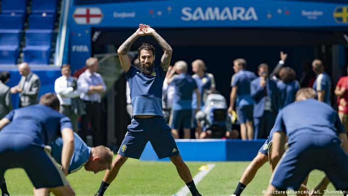 Russland, Zelenogorsk: WM, vor dem Viertelfinale Schweden - England