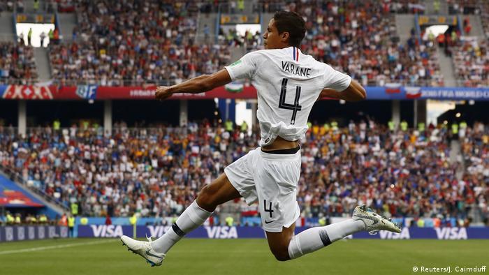 Перший гол забив у ворота уругвайців забив Рафаель Варан